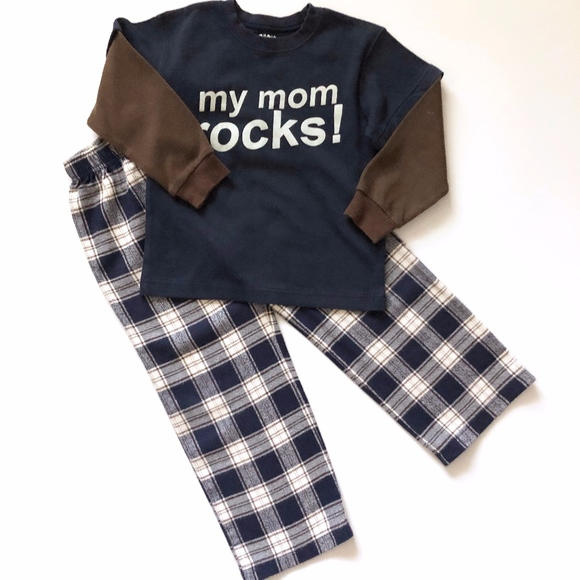 Wes and Willy Little Boys Plaid Flannel Lounge Pants